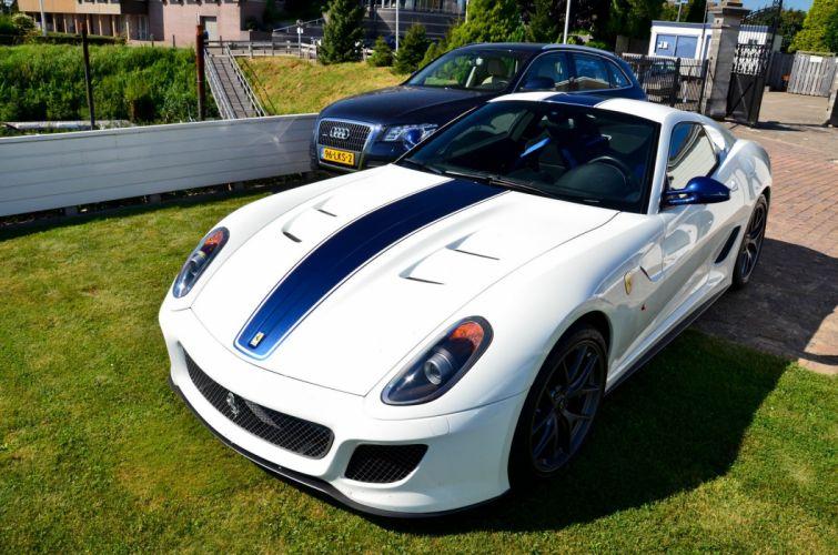 599 Ferrari white GTO supercars wallpaper