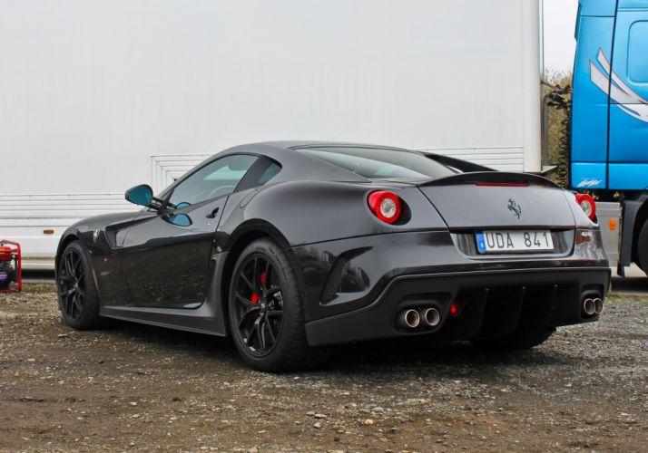 599 Ferrari GTO supercars black wallpaper