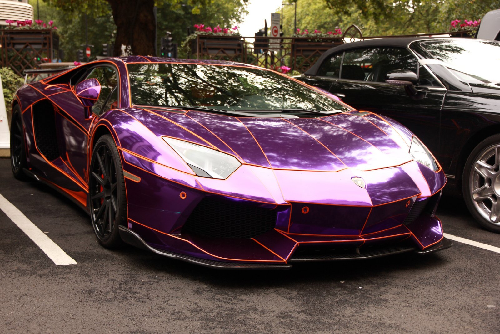 aventador purple chrome lamborghini lp700 supercars tuning wrapping wallpaper 1600x1067 393723 wallpaperup