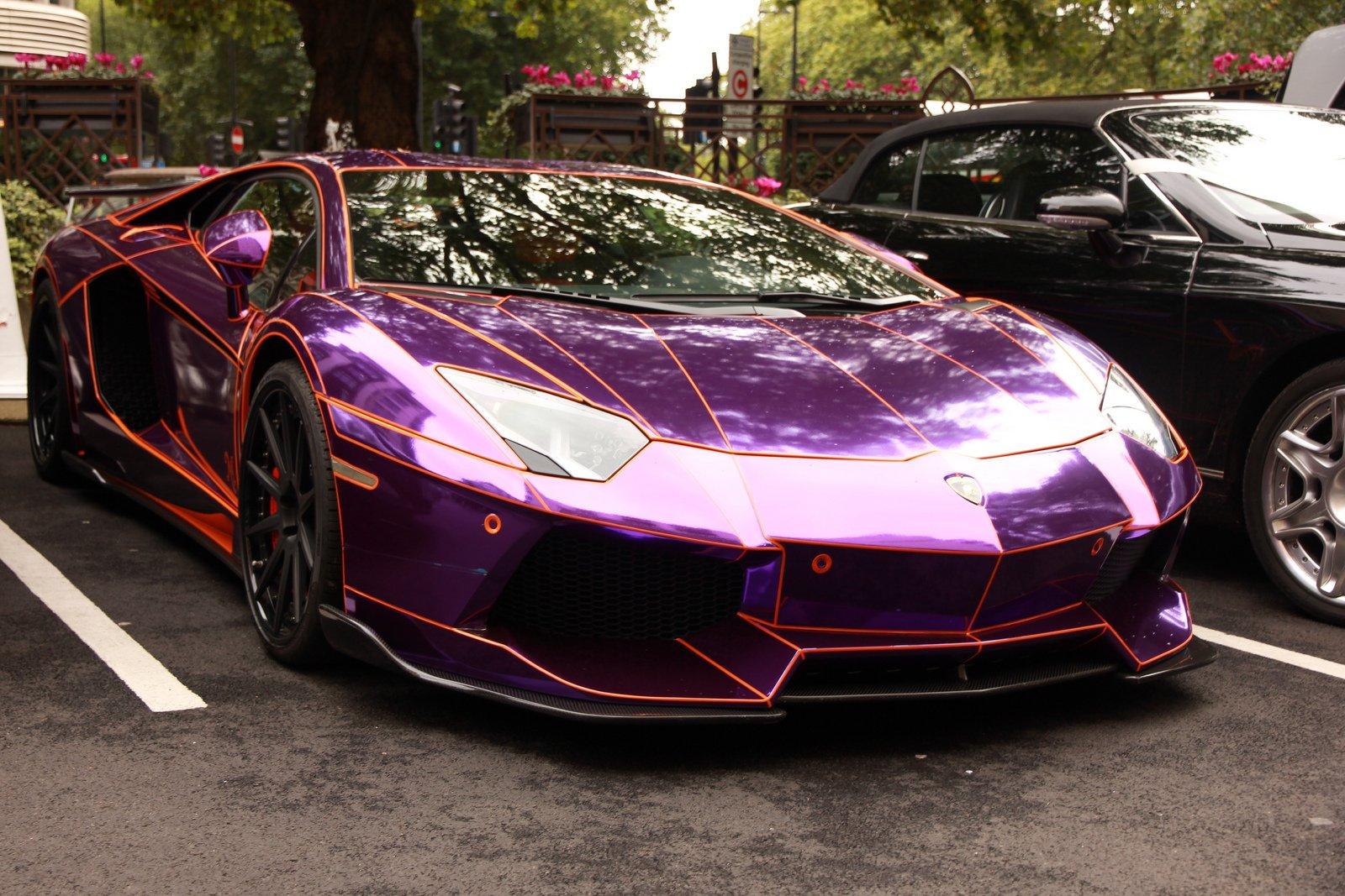 Aventador purple Chrome Lamborghini lp700 supercars Tuning ...