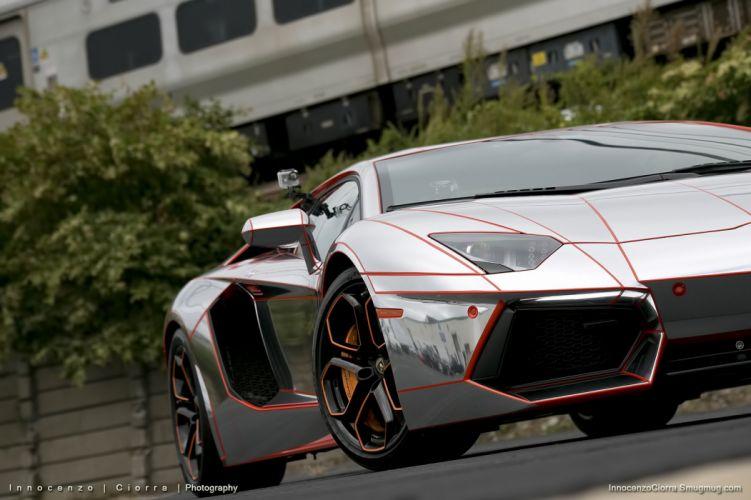 Aventador Chrome Lamborghini lp700 supercars Tuning wrapping wallpaper