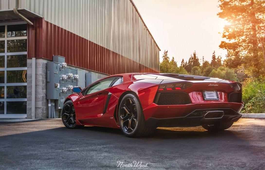 Aventador red Lamborghini lp700 supercars Tuning wrapping wallpaper