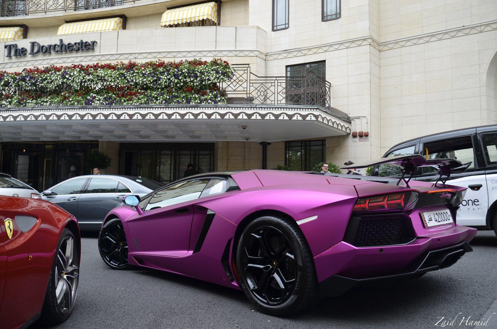 Aventador Purple Lamborghini Lp700 Supercars Tuning Wrapping