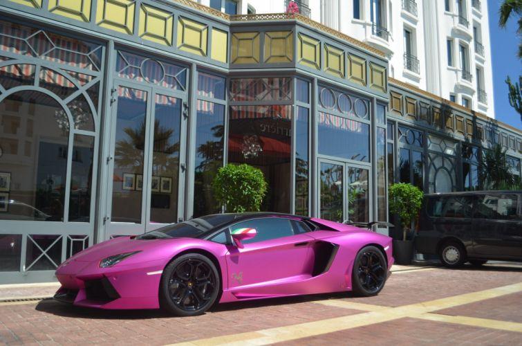 Aventador rose Lamborghini lp700 supercars Tuning wrapping wallpaper