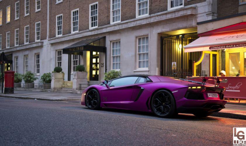 Aventador purple Lamborghini lp700 supercars Tuning wrapping wallpaper