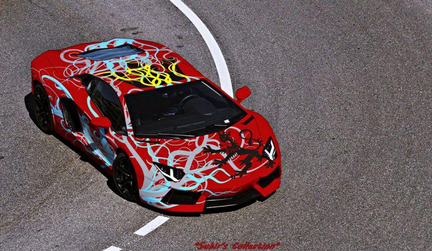Aventador Lamborghini lp700 supercars Tuning wrapping wallpaper