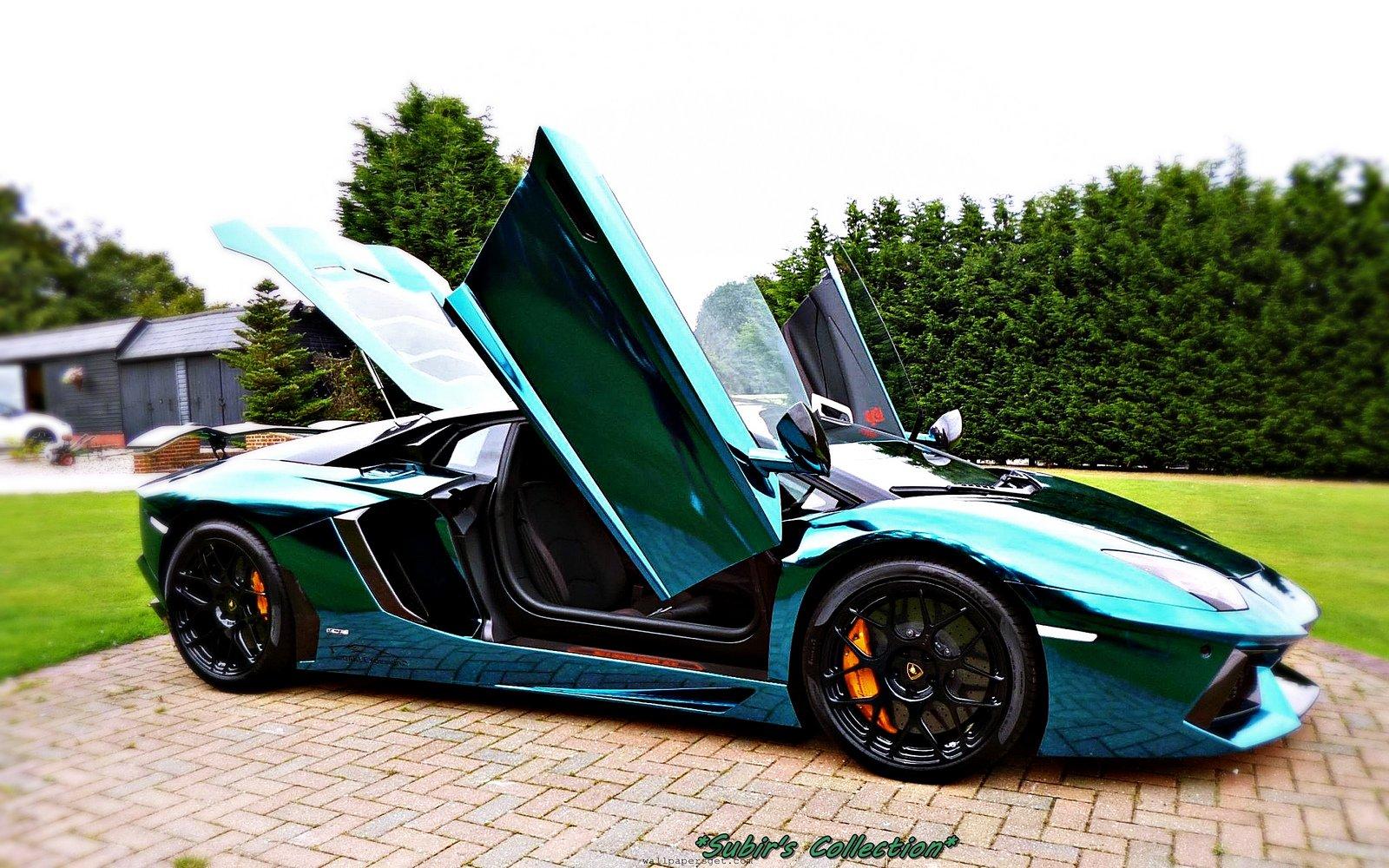 aventador lamborghini lp700 supercars tuning blue chrome wrapping wallpaper 1600x1000 393756 wallpaperup - Lamborghini Aventador Blue Chrome