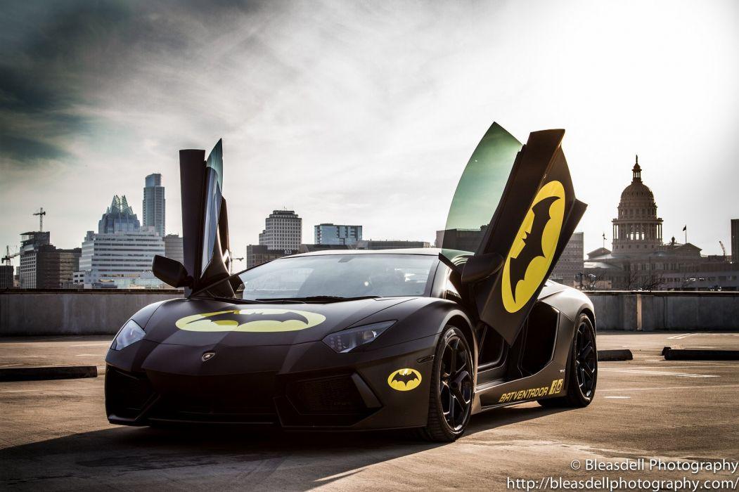 Aventador Lamborghini lp700 supercars Tuning wrapping batman wallpaper