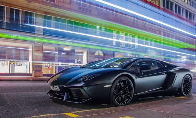 Aventador black matt Lamborghini lp700 supercars Tuning wrapping wallpaper