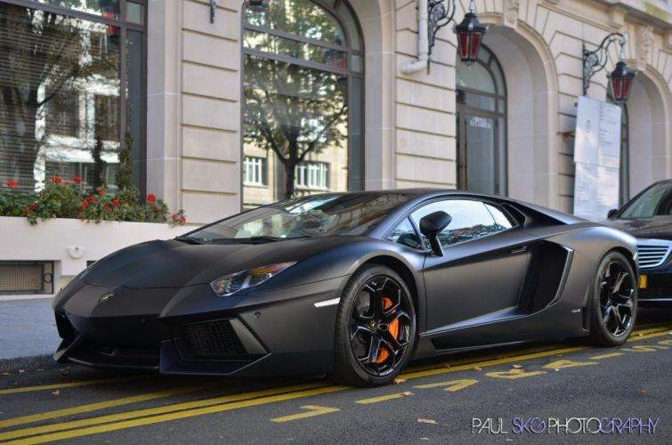 Aventador black matt Lamborghini lp700 supercars Tuning wrapping wallpaper