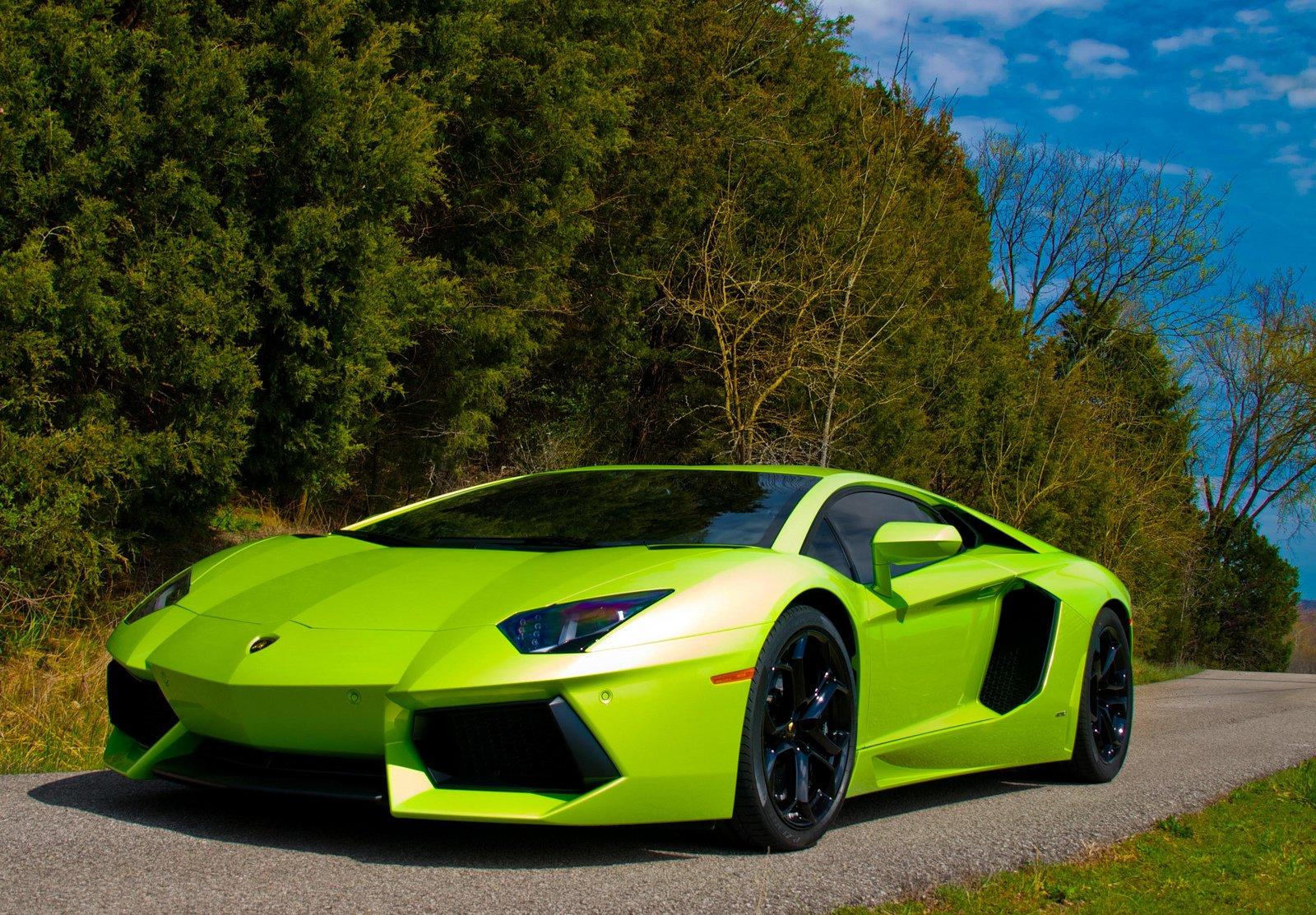 Aventador green Lamborghini lp700 supercars italian cars ...