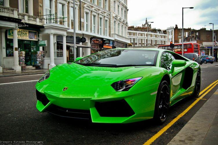 Aventador green Lamborghini lp700 supercars italian cars wallpaper
