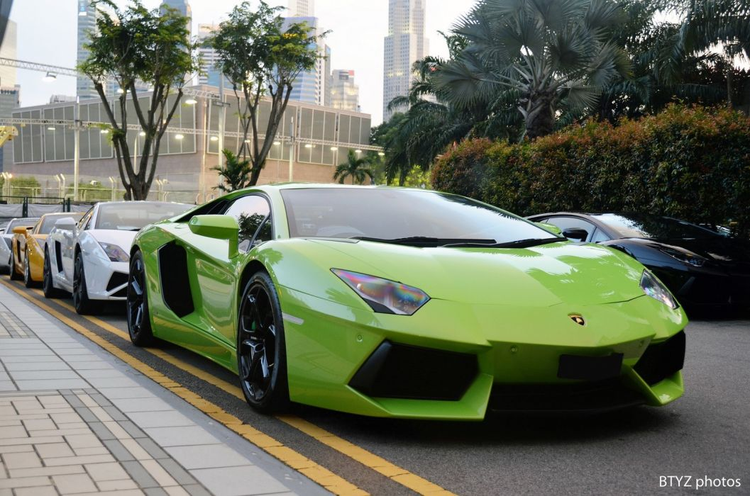 Aventador green Lamborghini lp700 supercars italian cars wallpaper