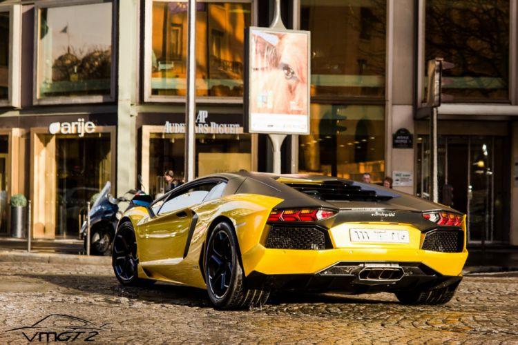Aventador cars yellow jaune italian Lamborghini lp700 supercars wallpaper