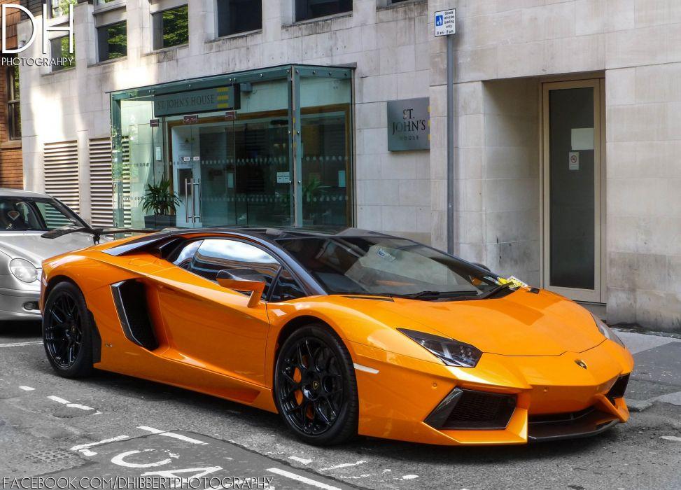 Aventador cars italian orange Lamborghini lp700 supercars wallpaper