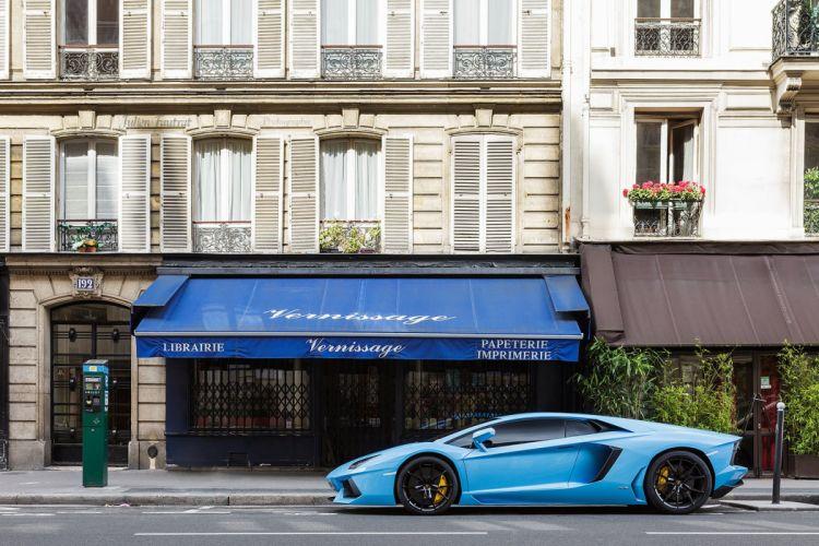 Aventador cars italian Lamborghini lp700 blue bleue supercars wallpaper