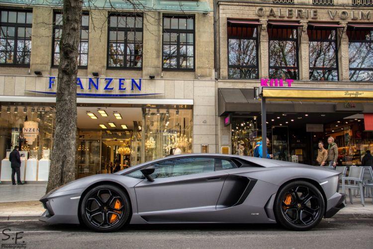 Aventador bleue grise grey cars italian Lamborghini lp700 supercars wallpaper