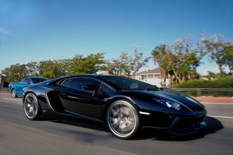 Aventador bleue cars black noire grise italian Lamborghini lp700 supercars wallpaper