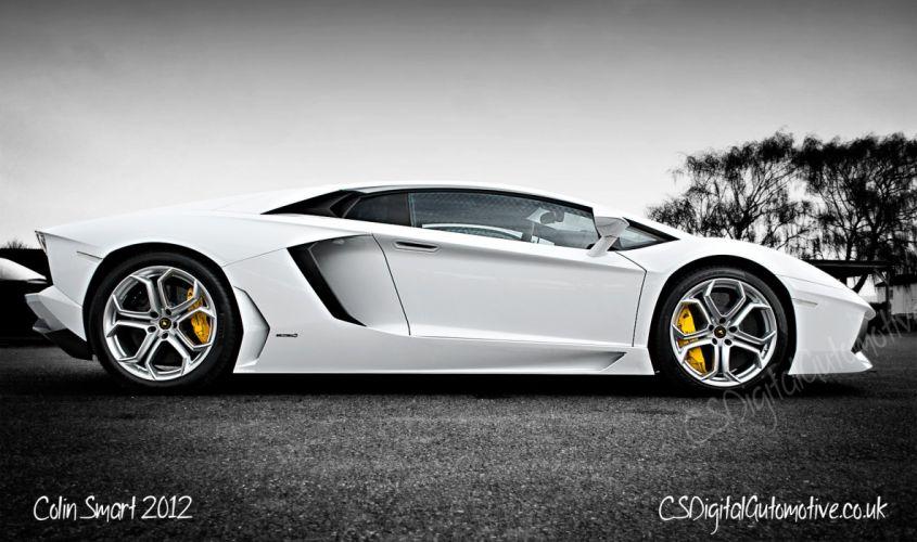 Aventador black bleue cars grise italian Lamborghini lp700 white blanche supercars wallpaper