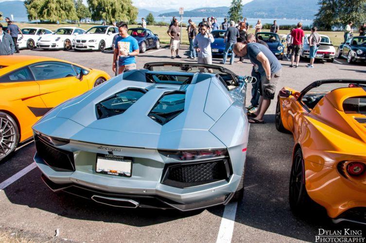 Aventador grise italian Lamborghini lp700 4 roadster supercars grey wallpaper