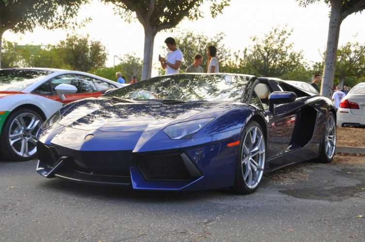 Aventador bleue italian Lamborghini lp700 4 roadster supercars blue wallpaper