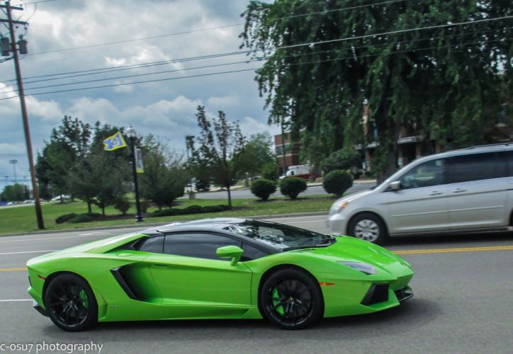 Aventador green verte italian Lamborghini lp700 roadster supercars wallpaper