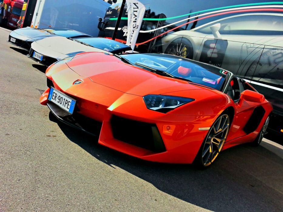 Aventador italian Lamborghini lp700 roadster supercars orange wallpaper