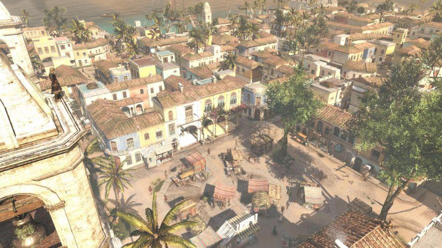 Assassin's Creed Black Flag Edward Kenway Hawana Marketplace People City wallpaper