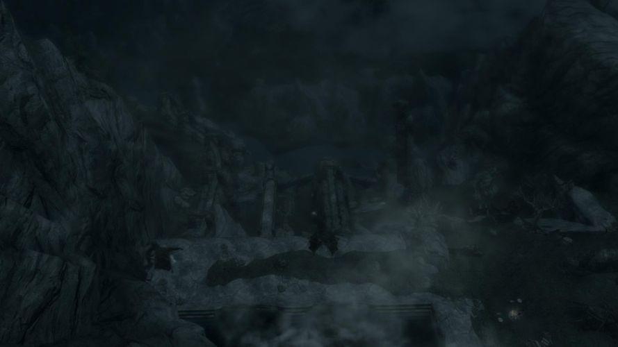 The Elder Scrolls Skyrim Waterfall Renegate Camp wallpaper