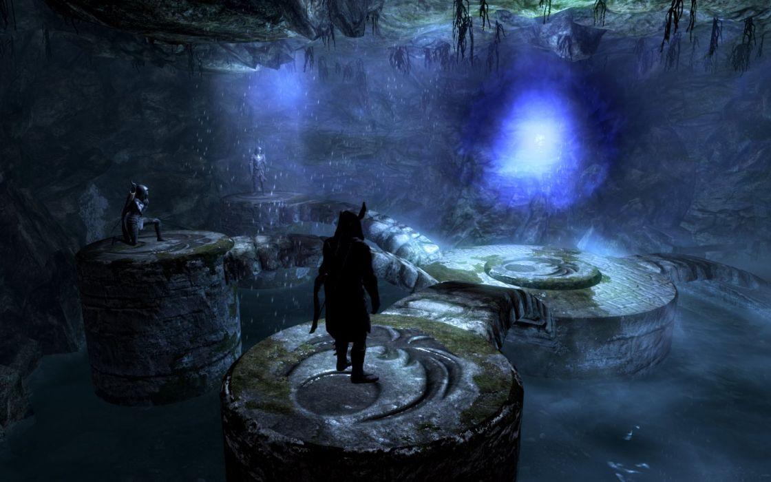 The Elder Scrolls Skyrim Nightingales Nightingale Hall Nocturnal wallpaper