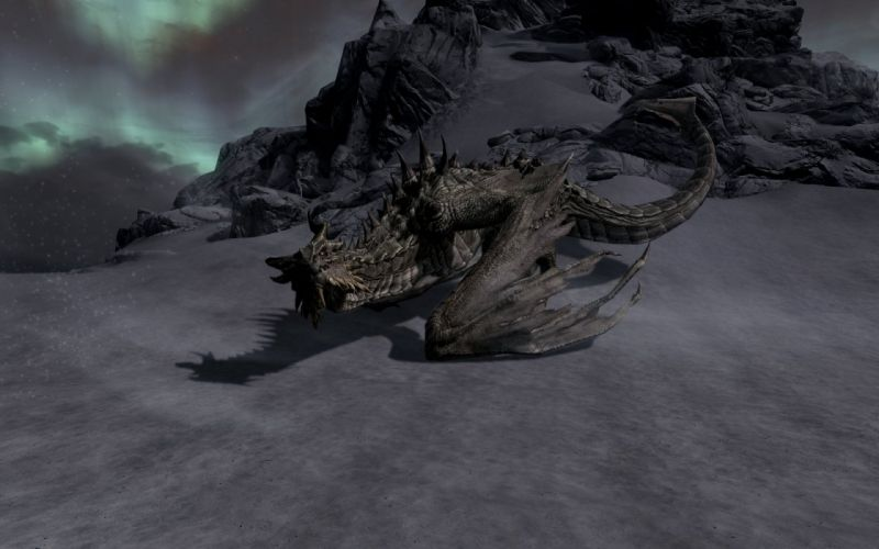 The Elder Scrolls Skyrim Paarthurnax wallpaper