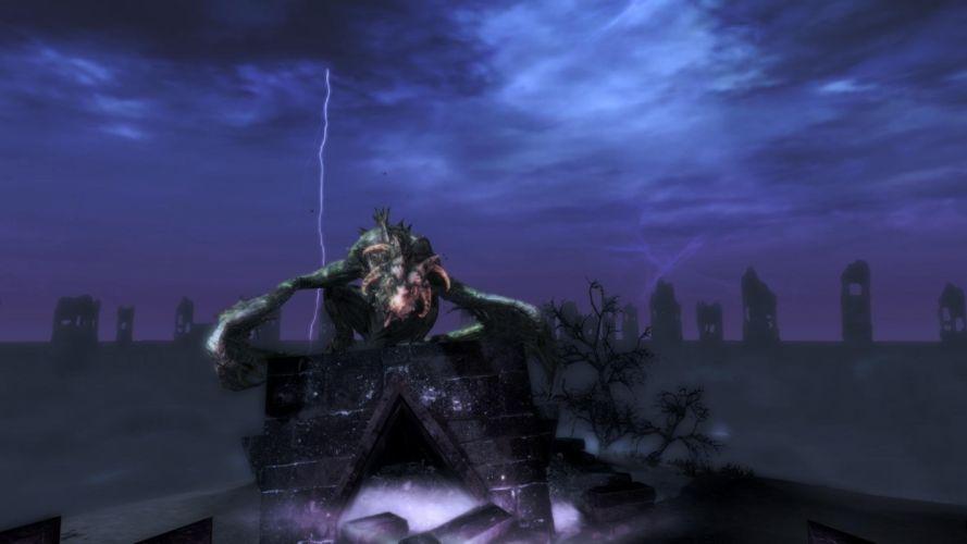 The Elder Scrolls Skyrim Dawnguard Soul Cairn Durnehviir Lighting wallpaper