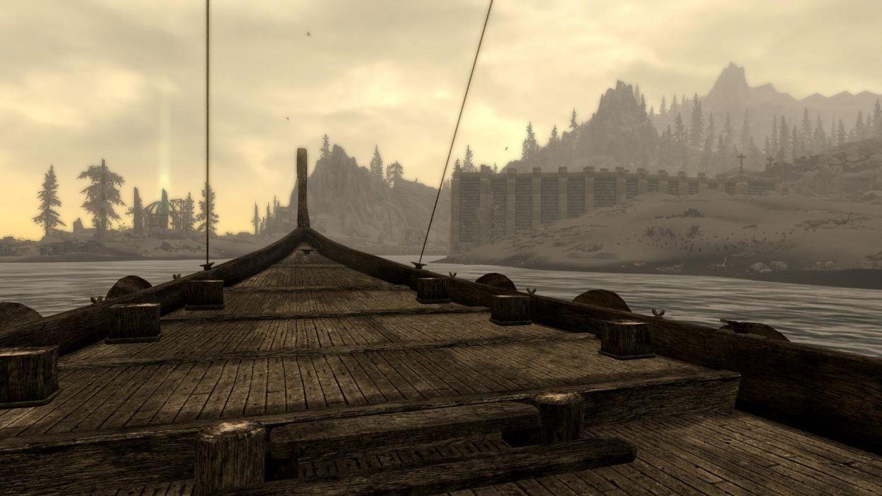 The Elder Scrolls Skyrim Dragonborn Ship Solstheim wallpaper