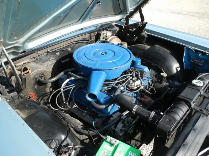 1966 Ford Galaxie 500 Convertible 390 Classic engine wallpaper