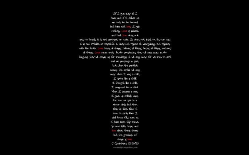Love Cross wallpaper