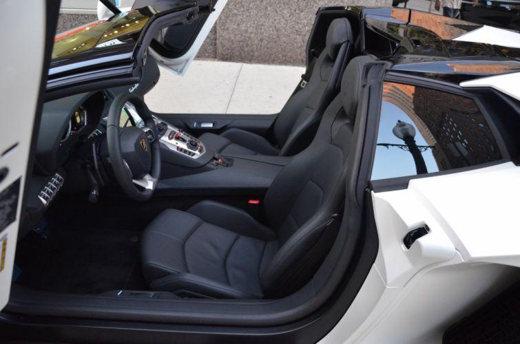 700 Aventador cabriolet BIANCO ISIS convertible Dreamcar Exotic italian Lamborghini roadster sportscar Supercar wallpaper