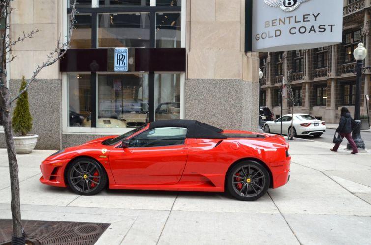 Ferrari F430 Scuderia Spider cabriolet roadster Dreamcar Exotic italian sportscar Supercar ROSSO CORSA RED wallpaper
