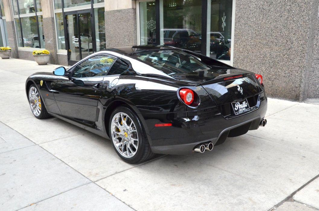 Ferrari 599 GTB Fiorano BLACK Coupe Dreamcar Exotic italian  nero sportscar Supercar wallpaper