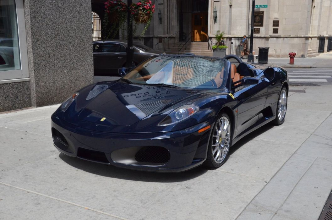 2008 Ferrari F430 Spider POZZI BLUE bleue Dreamcar Exotic italian sportscar Supercar  wallpaper