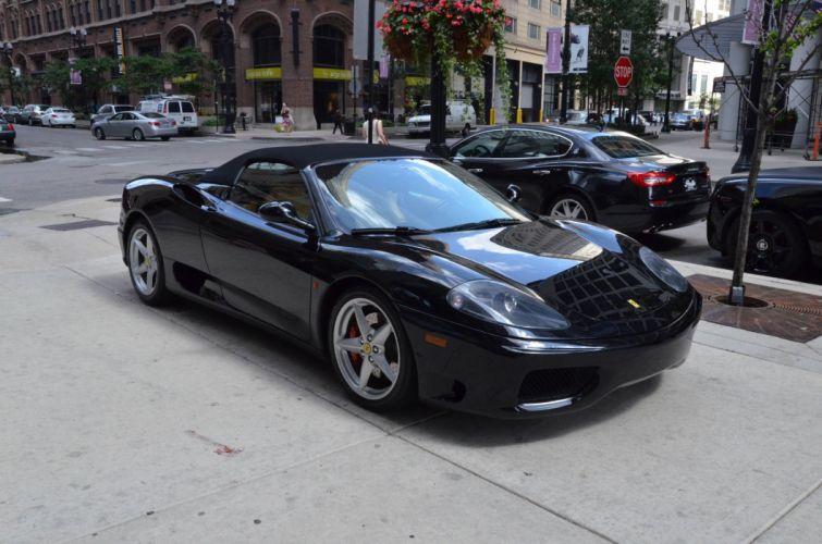 2003 Ferrari 360 spider black noire Dreamcar Exotic italian sportscar Supercar wallpaper