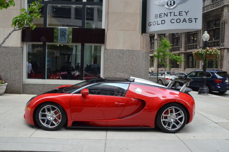 grand sport 2012 Bugatti Dreamcar Exotic italian red rosso rouge sportscar Supercar Veyron wallpaper