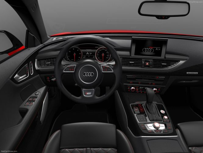 2014 Audi A7 Sportback 3_0 TDI competition germany sportscar red wallpaper