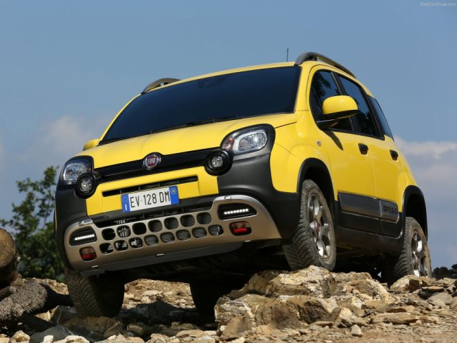 2014 Fiat Panda Cross italian suv jaune wallpaper