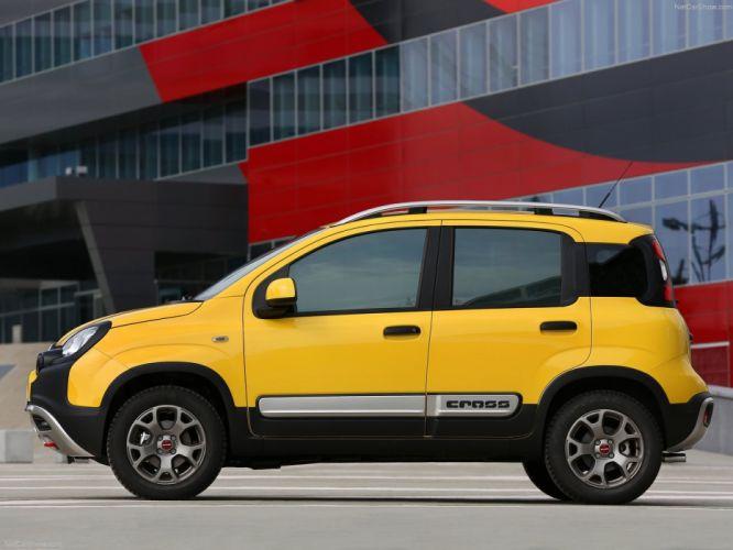 2014 Fiat Panda Cross italian suv jaune wallpaper