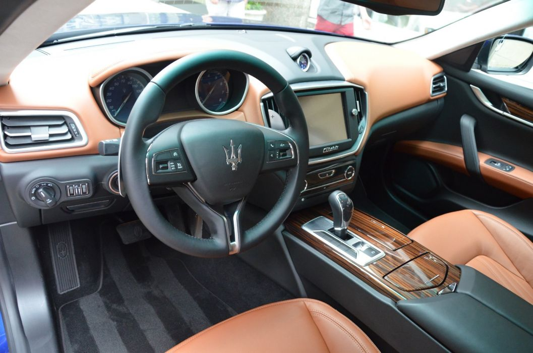 2014 Exotic ghibli italian Maserati blue qs4 wallpaper