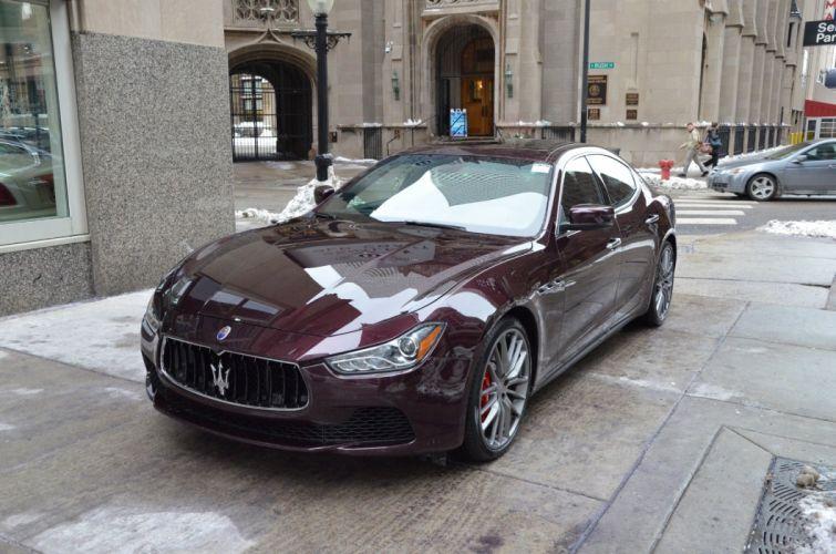 2014 Exotic ghibli italian Maserati qs4 ROSSO FOLGORE wallpaper