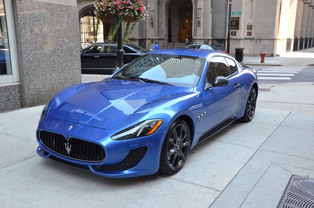 2014 Dreamcar Exotic granturismo italian Maserati sportscar Supercar BLUE SOFISTICATO wallpaper