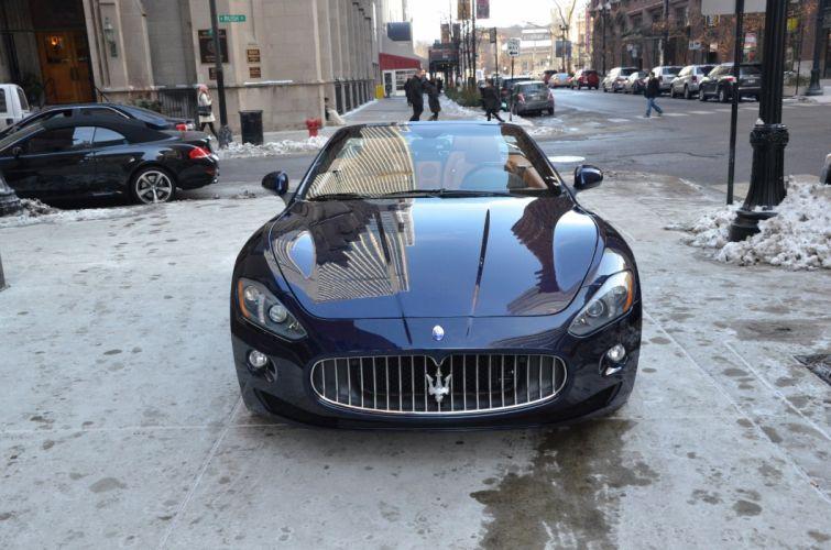 2014 Convertible Dreamcar Exotic granturismo italian Maserati sportscar Supercar blue BLU OCEANO wallpaper