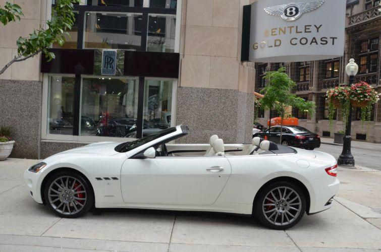 2014 convertible Dreamcar Exotic granturismo italian Maserati sportscar Supercar BIANCO ELDORADO wallpaper