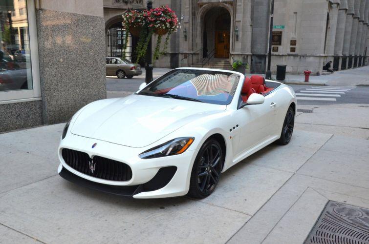 2014 BIANCO Dreamcar eldorado Exotic granturismo MC convertible italian Maserati sportscar Supercar wallpaper